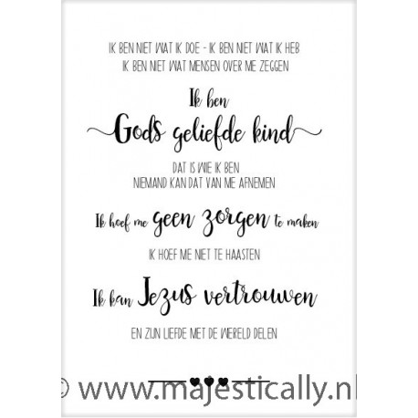 Poster 50x70 Gods geliefde kind - MA33211 - Posters XL