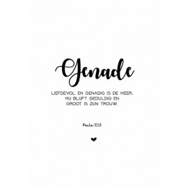 Poster A3 'Genade' - MA33105 - Posters A3 bij MajesticAlly