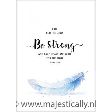 Poster 50x70 be strong