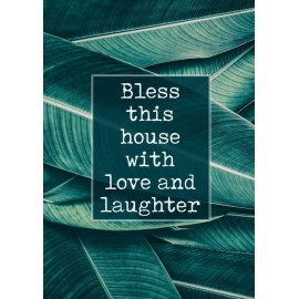 Poster A4 'Bless this house'