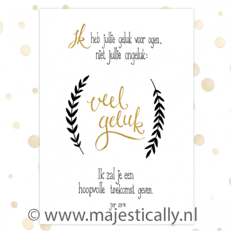 Poster A4 'Veel geluk' - MA36206 - Posters A4
