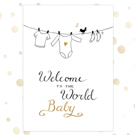 Kaart 'Welcome to the world' - MA36001 - Golden Blessings bij MajesticAlly
