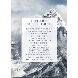 Poster A4 'Leef met volle teugen' - Berg - MA33536 - Poster A4