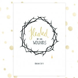 Kaart 'Healed by His wounds' - MA36064 - Golden Blessings bij MajesticAlly