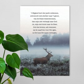 Poster A4 't'Hijgend hert - Psalm 42' - Hour of Power - MA26117 - Posters bij MajesticAlly