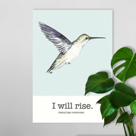 Poster A4 Poster A4 'I will rise' - Hour of Power - MA26120 - Posters bij MajesticAlly