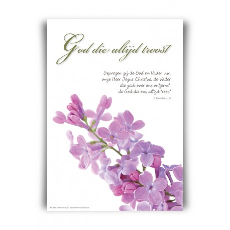 Poster A4 'God die altijd troost' - 46814 - Square serie