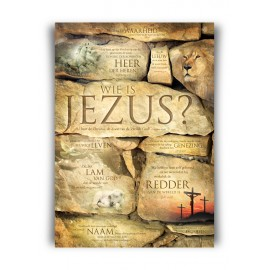 Poster A3 'Wie is Jezus?'