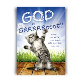 Poster A3 'God is groot' - MA11361 - Posters A3 bij MajesticAlly