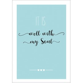 Kaart 'It is well with my soul'