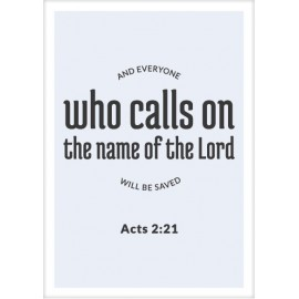 Kaart 'Who calls on the Lord'