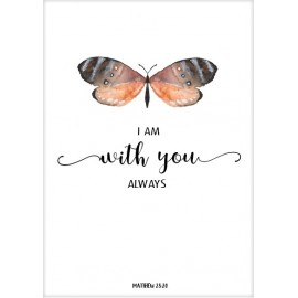 Kaart 'I am with you always'