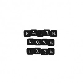 Kaart 'Faith love hope'